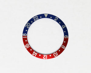 Bezel Insert Aluminum For Rolex GMT Pepsi Blue/Red