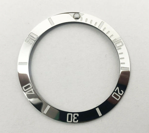Bezel Insert Fits For Rolex Submariner Chrome/Silver- (RARE)