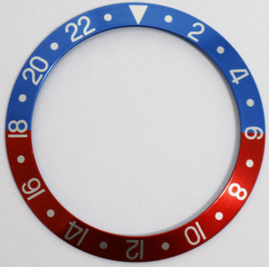 Bezel Insert Aluminum For Rolex GMT 1675/16750 - Pepsi Faded Vintage