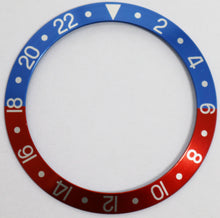Load image into Gallery viewer, Bezel Insert Aluminum For Rolex GMT Pepsi Faded Vintage