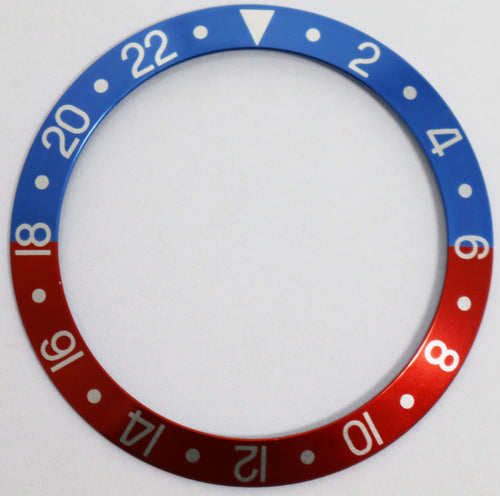 Bezel Insert Aluminum For Rolex GMT Pepsi Faded Vintage