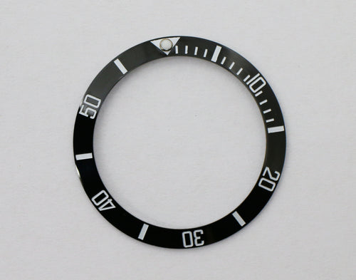 Bezel Insert Ceramic For Rolex Submariner - Black/White Color