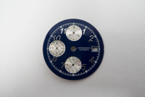 Blue Dial For Valjoux 7750 And ETA 7750 Movement With Date Window