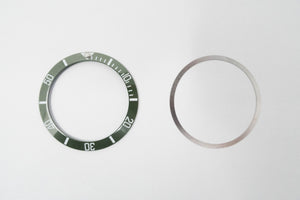 Bezel Insert Ceramic Fits For Rolex Submariner Hulk Green With Flat Tension