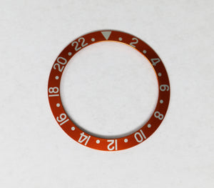 Bezel Insert Aluminum For Rolex GMT - Orange Color