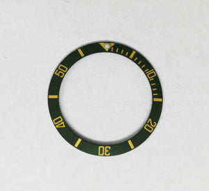 Bezel Insert Ceramic For Rolex Submariner Green/Gold Vintage (Patina Color) #2