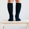 Lamington | Merino Socks | Black Rib Knee High Socks