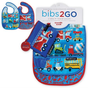 Busy City Bib Set of 2 + Pouch