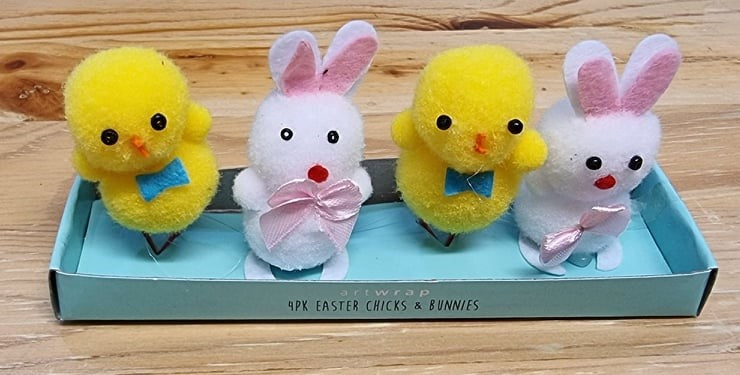 Easter Chicks and Bunnies 4 Pack