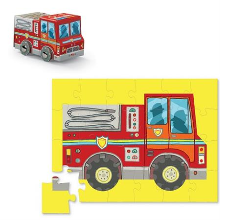 Mini Shaped Fire Truck Puzzle 24 Pieces