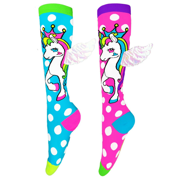 Flying Unicorn Socks with Wings