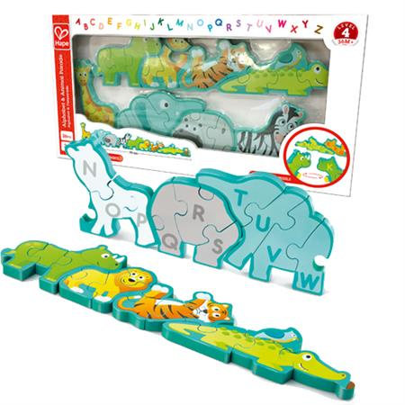 Hape Alphabet and Animal Parade Puzzle