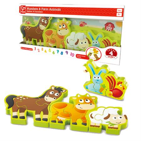 Hape Numbers and Farm Animals Puzzle