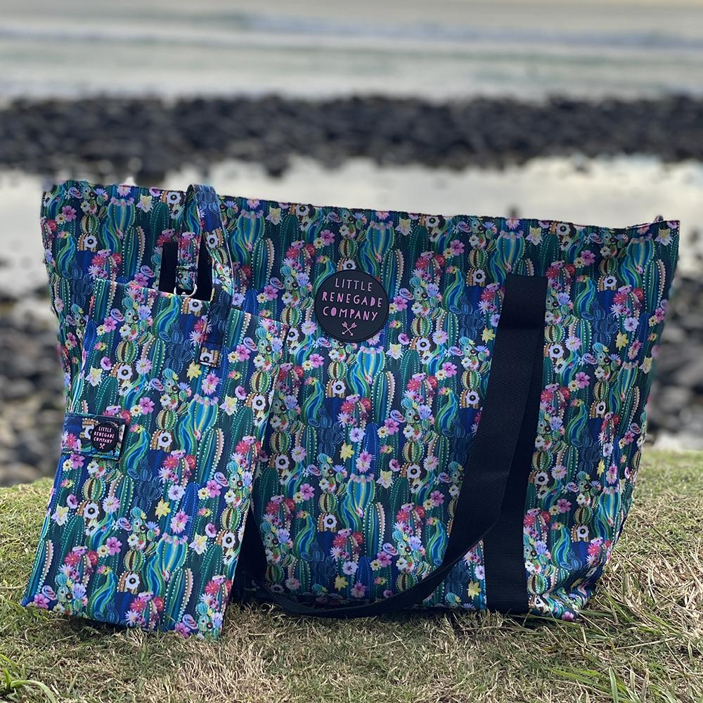 Little Renegade | Oasis Blossom Large Tote Bag