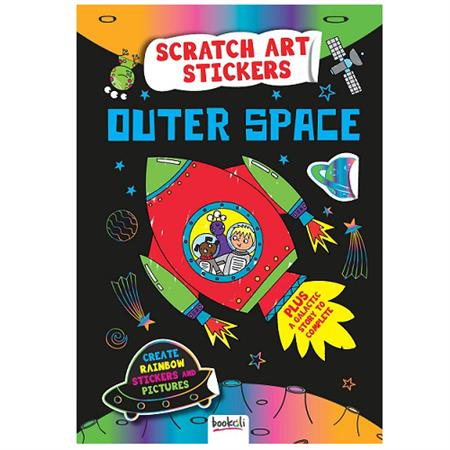 Scratch Art Sticker Fun - Outer Space