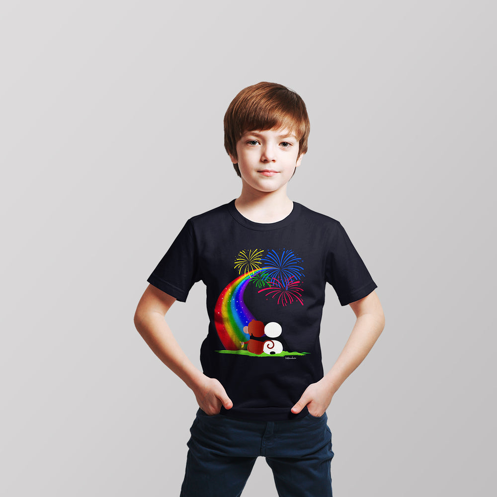Monkey + Bear and the Starlit Rainbow T-Shirt