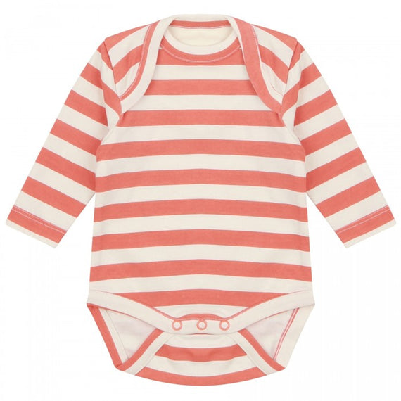Piccalilly | Spicy Orange Stripe Baby Bodysuit