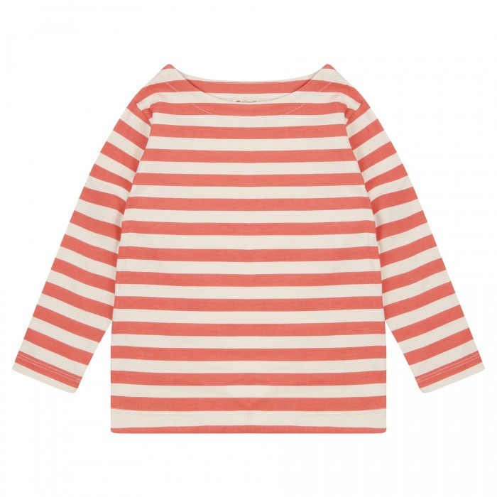 Piccalilly | Spicy Orange Stripe Long Sleeve Tee