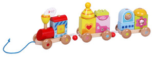 Pull Train, Classic World, Pull Toy, Train, Wooden Train, Wooden Pull Train,