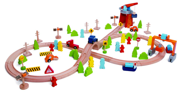 wooden train set, wooden, train, Classic, Classic World,
