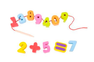 Number, Number Lacing Beads, Wooden number lacing Beads,