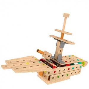 Classic World, Wooden Toys, Construction, 96pc wooden , Wooden Blocks,