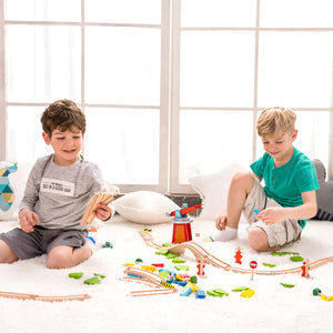 110pc Wooden Train Set