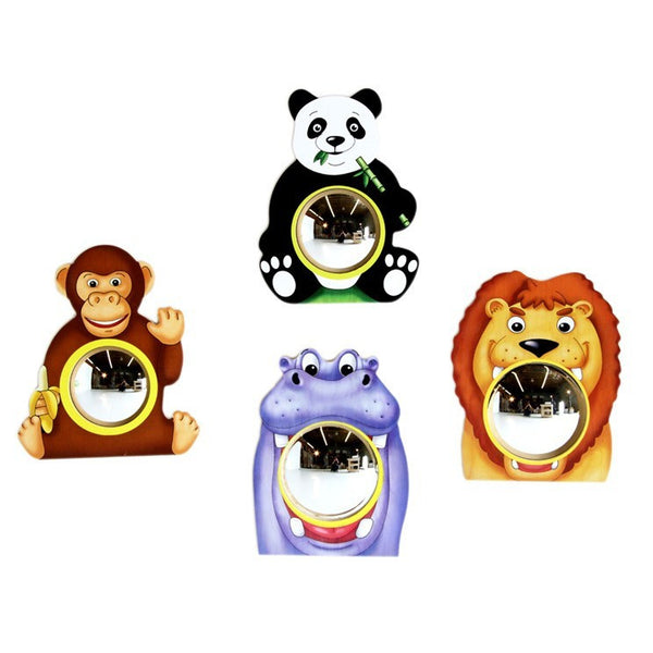 Animal Friends Wall Mirrors – Set of 4