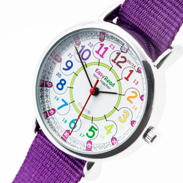 EasyRead Time Rainbow Wrist Watch 12-24hr
