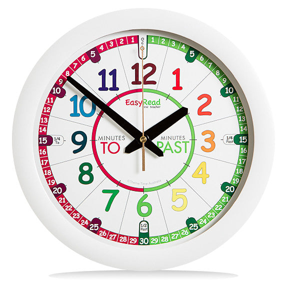 EasyRead Time Teacher Rainbow Wall Clock