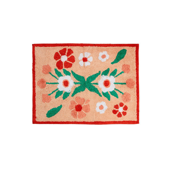 Flower Power Bath Mat - Peachy Parrot