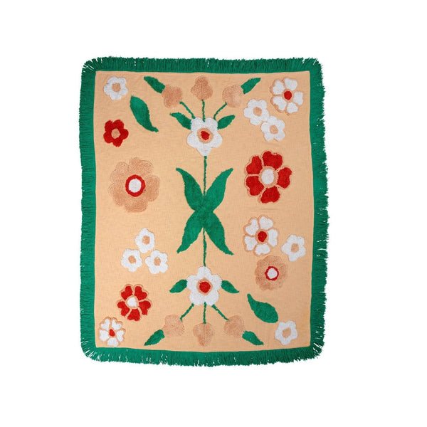 Flower Power Throw - Peachy Parrot