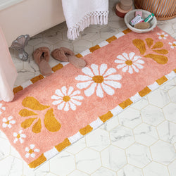 GROOVY BATH RUNNER - Peachy Parrot