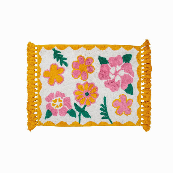 Lemonade Bath Mat - Peachy Parrot