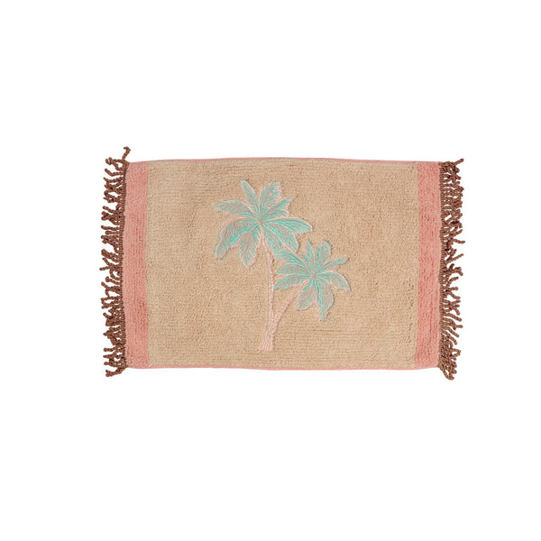 Mini Palm Beach Shower Mat - Peachy Parrot