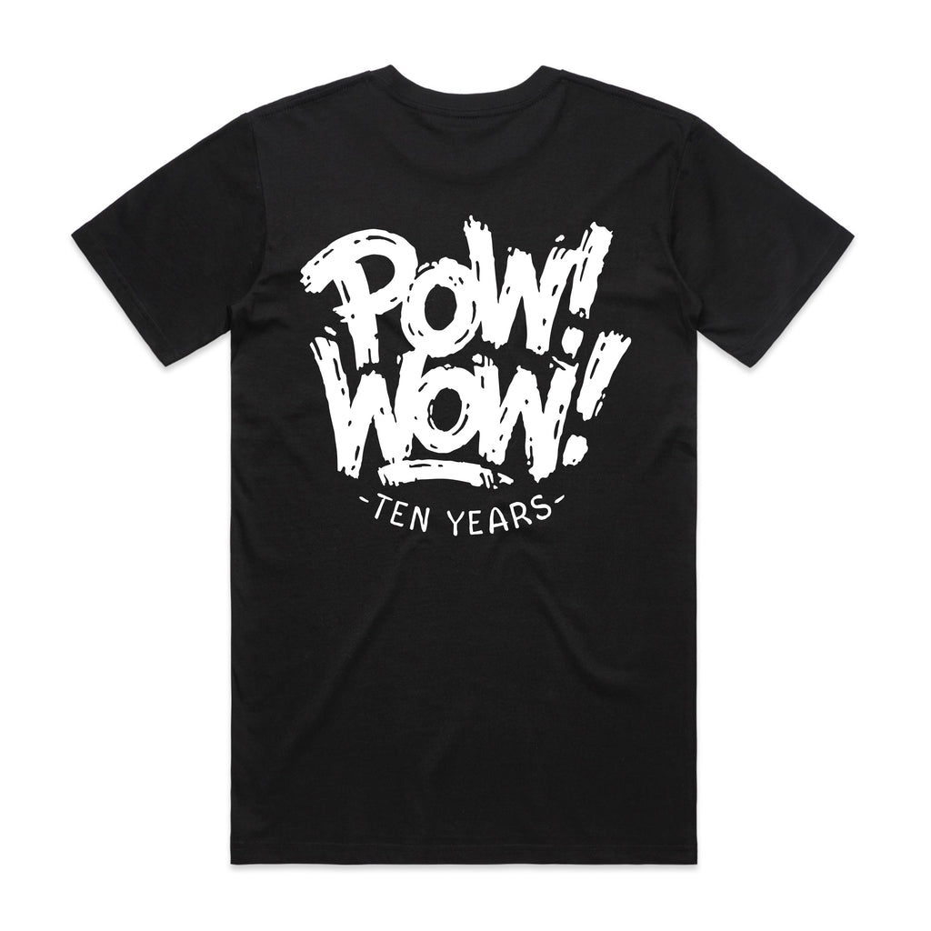 2020 POW! WOW! Hawaii Black Men's Tee By Matthew Tapia