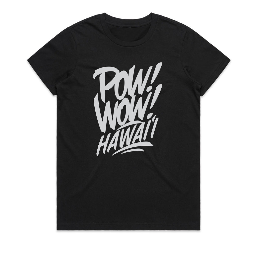 2020 POW! WOW! Hawaii Black Women's Tee