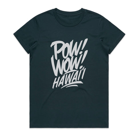 2020 POW! WOW! Hawaii Indigo Women's Tee