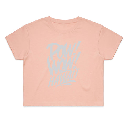 (Pre-Order) 2020 POW! WOW! Hawaii Dusty Pink Women's Crop Tee