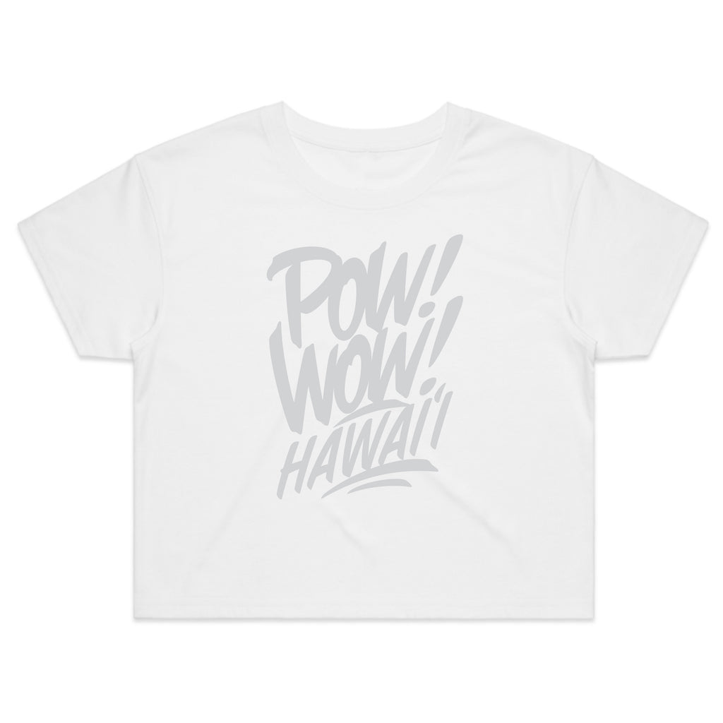 (Pre-Order) 2020 POW! WOW! Hawaii White Women's Crop Tee
