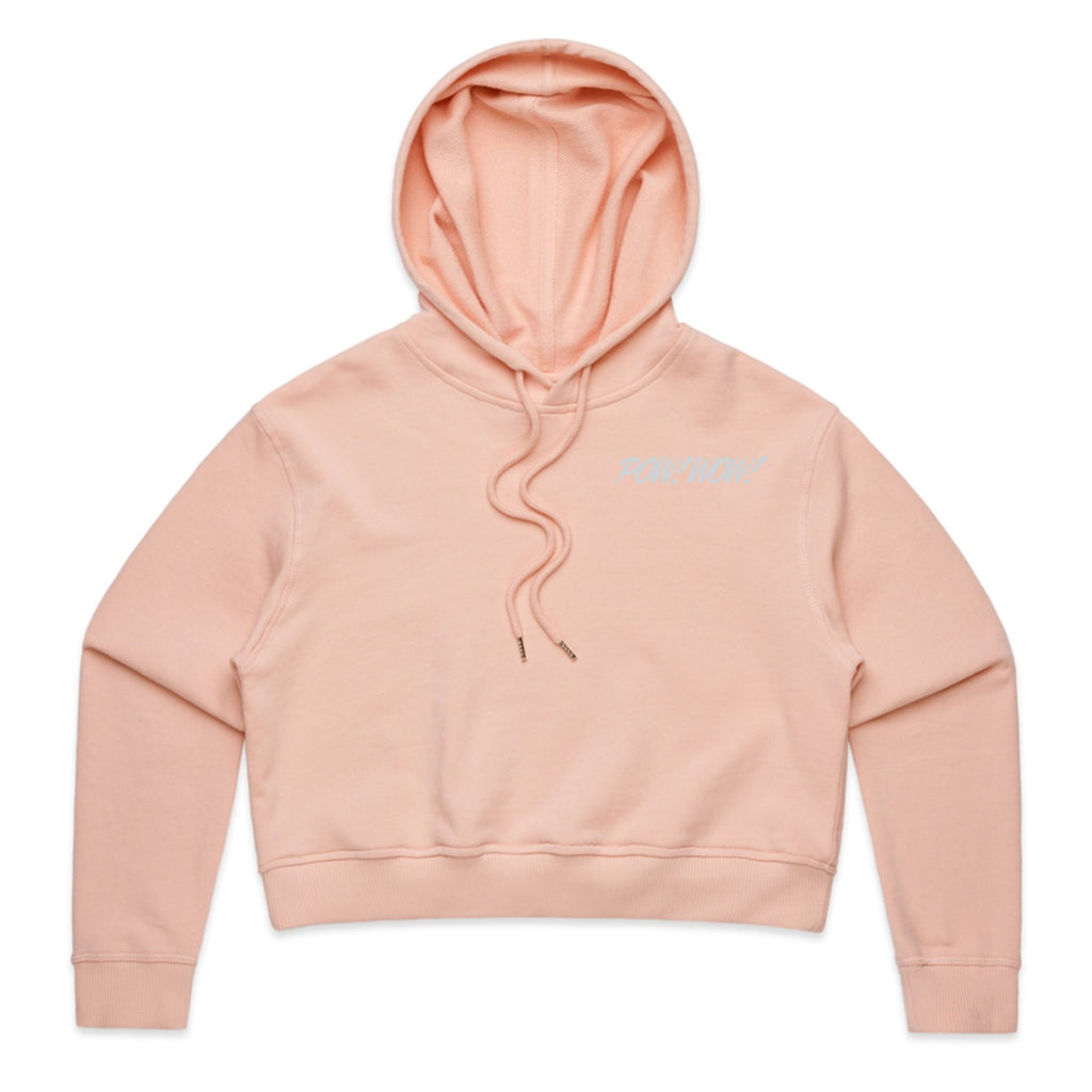 2020 POW! WOW! Hawaii Dusty Pink Women's Crop Hoodie