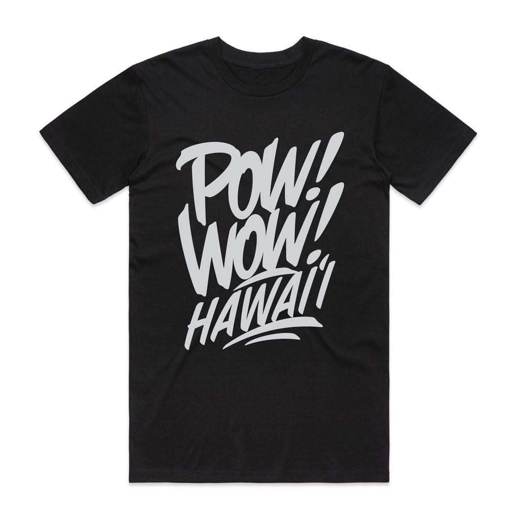 2020 POW! WOW! Hawaii Black Men's Tee