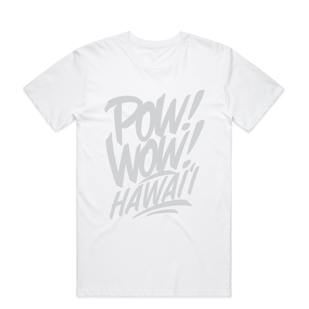 2020 POW! WOW! Hawaii White Men's Tee