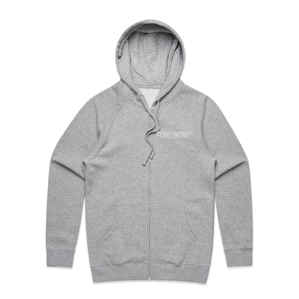 2020 POW! WOW! Hawaii Heather Grey Zip Hoodie