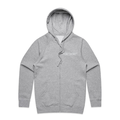 (Pre-Order) 2020 POW! WOW! Hawaii Heather Grey Zip Hoodie