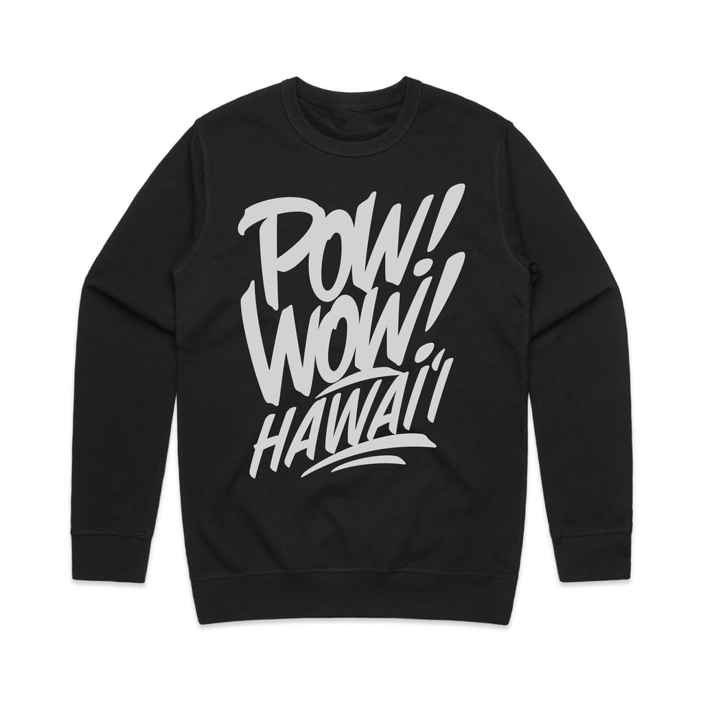 2020 POW! WOW! Hawaii Black Crew Neck