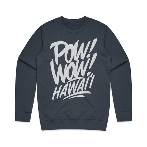 2020 POW! WOW! Hawaii Indigo Crew Neck