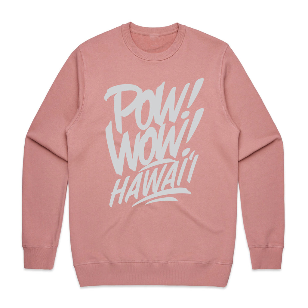 2020 POW! WOW! Hawaii Rose Crew Neck
