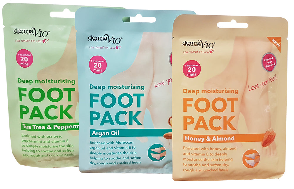Derma V10 Foot Mask Collection - Vitamin E Enriched, Skin Care Masks & Peels by Forever Cosmetics