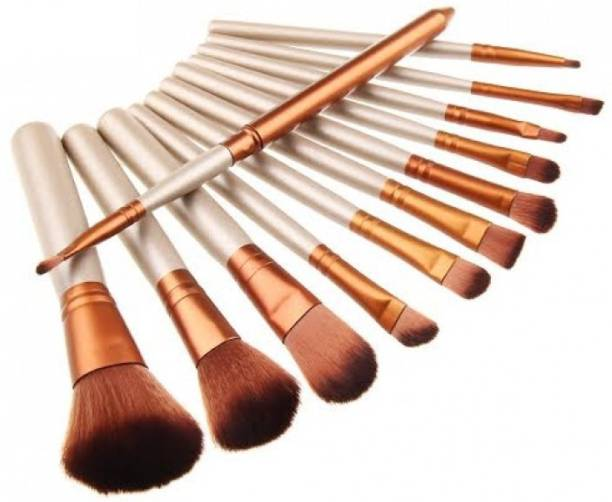 12pc Brush Set With Metal Storage Case by  Forever Cosmetics